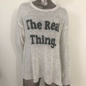 Wildfox Couture Label Wool Blend Sweater Long Sz M